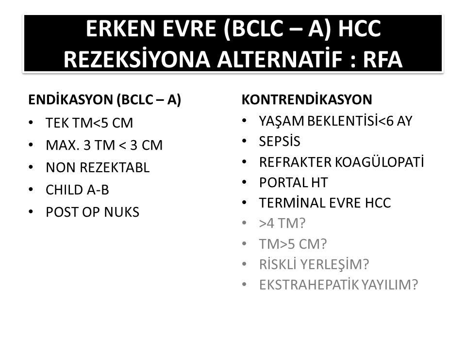 ERKEN EVRE (BCLC – A) HCC REZEKSİYONA ALTERNATİF : RFA