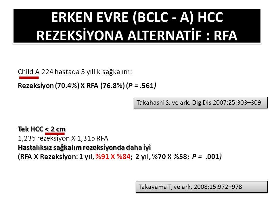 ERKEN EVRE (BCLC - A) HCC REZEKSİYONA ALTERNATİF : RFA