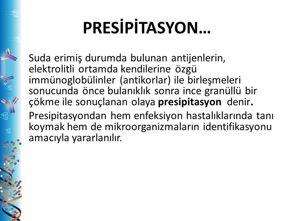 PRESİPİTASYON…