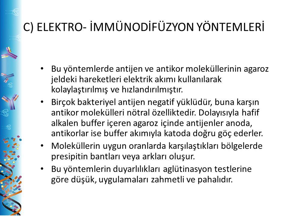 C) ELEKTRO- İMMÜNODİFÜZYON YÖNTEMLERİ
