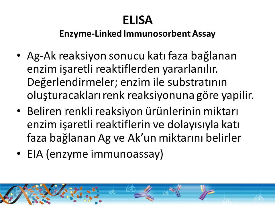 ELISA Enzyme-Linked Immunosorbent Assay