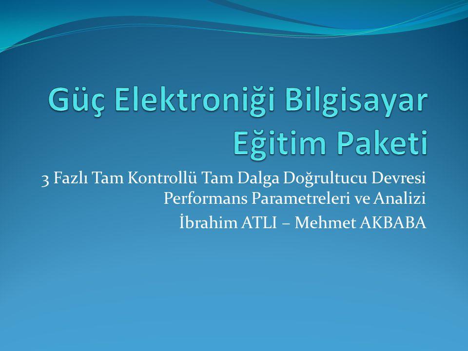 Güç Elektroniği Bilgisayar Eğitim Paketi