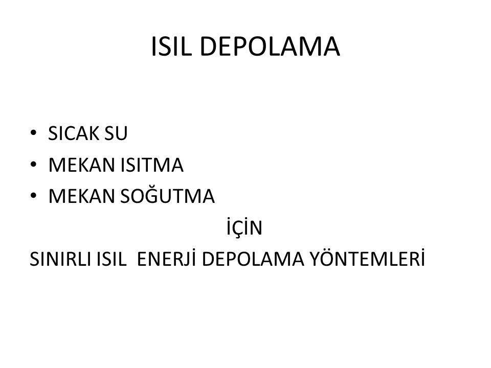 ISIL DEPOLAMA SICAK SU MEKAN ISITMA MEKAN SOĞUTMA İÇİN