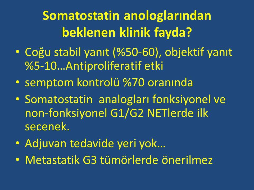 Somatostatin anologlarından beklenen klinik fayda