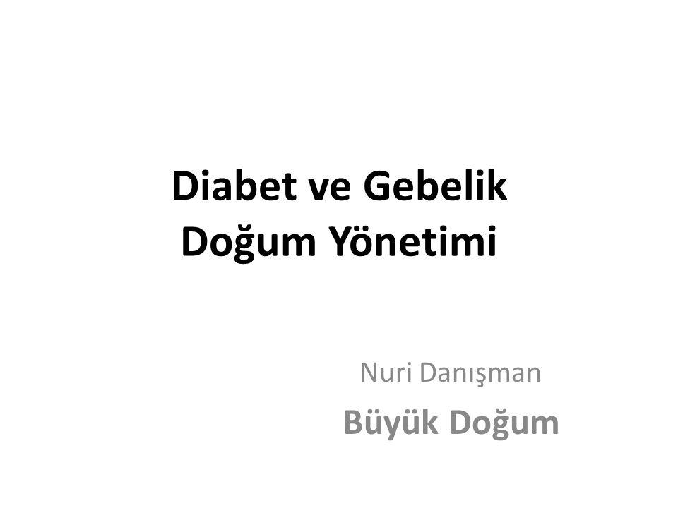 Diabet ve Gebelik Doğum Yönetimi