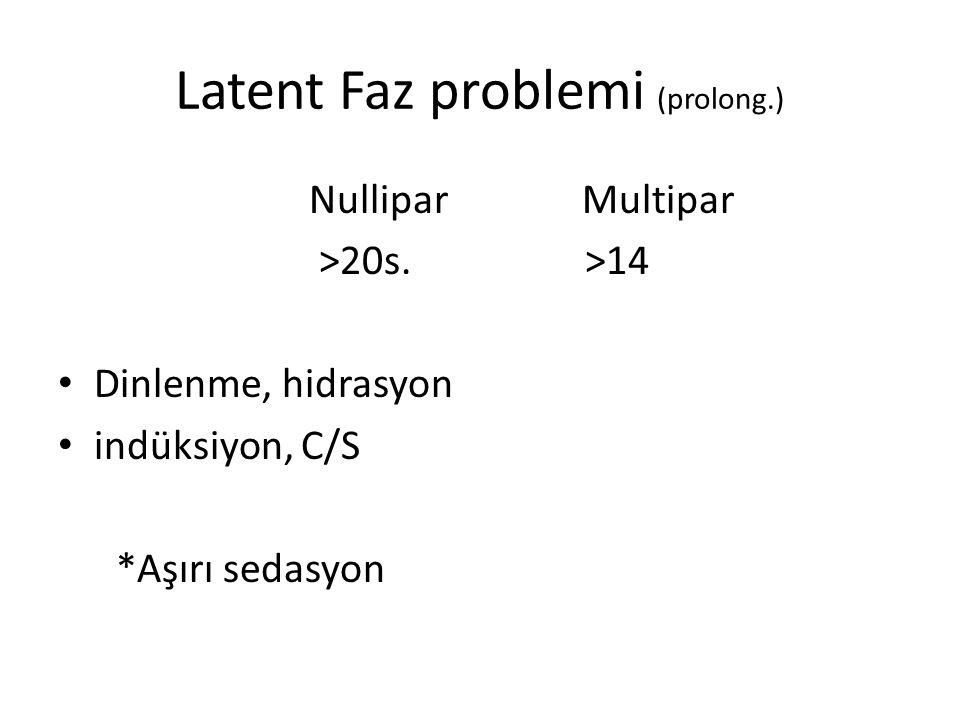 Latent Faz problemi (prolong.)