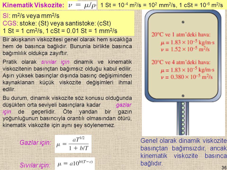 CGS: stoke: (St) veya santistoke: (cSt)