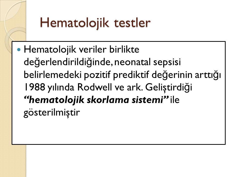 Hematolojik testler
