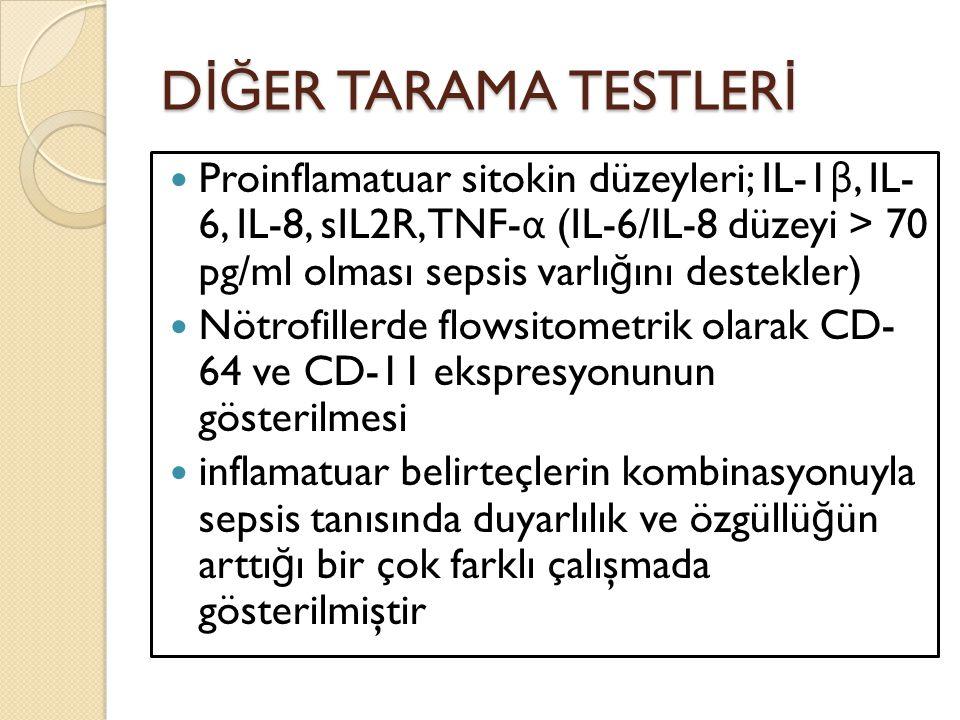 DİĞER TARAMA TESTLERİ