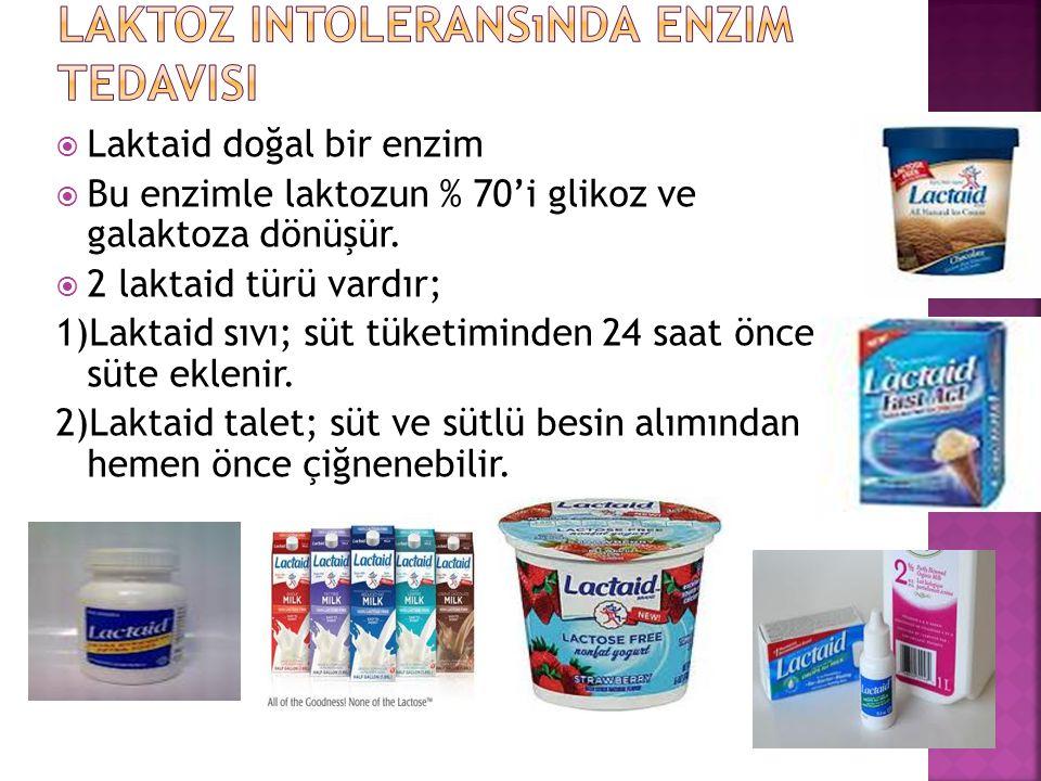 Laktoz intoleransında enzim tedavisi