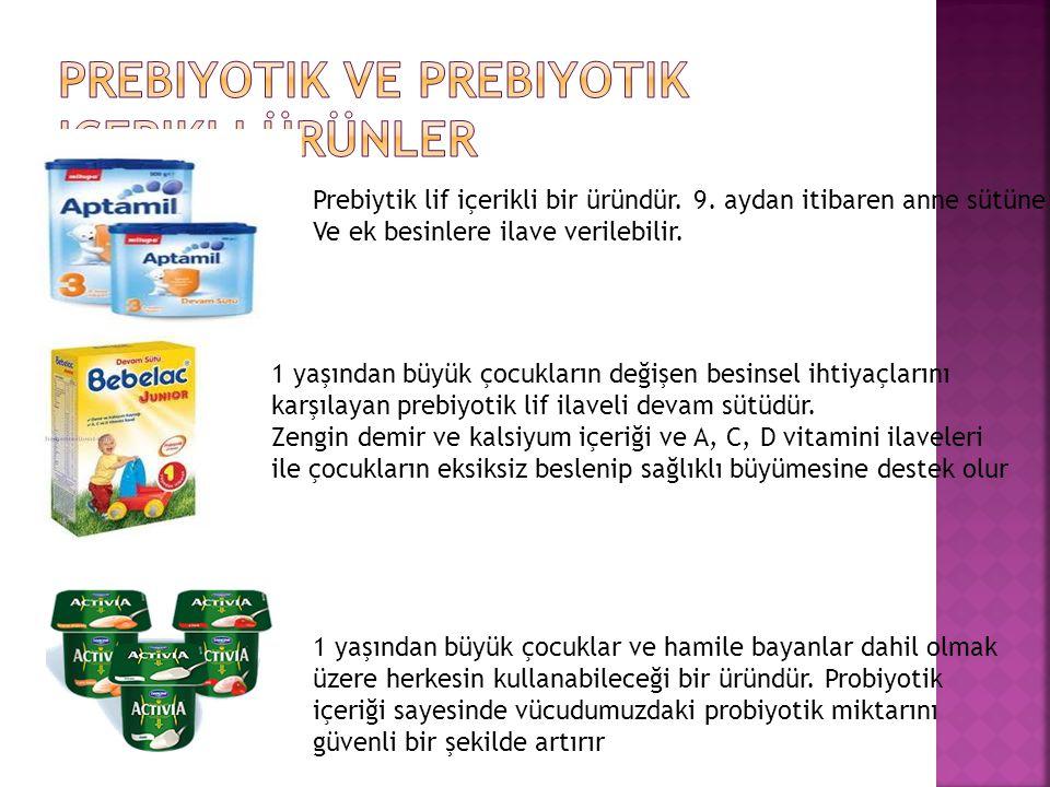 Prebiyotik ve prebiyotik içerikli ürünler