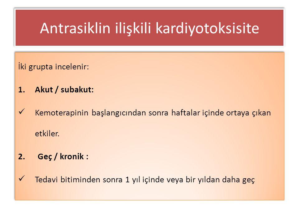 Antrasiklin ilişkili kardiyotoksisite