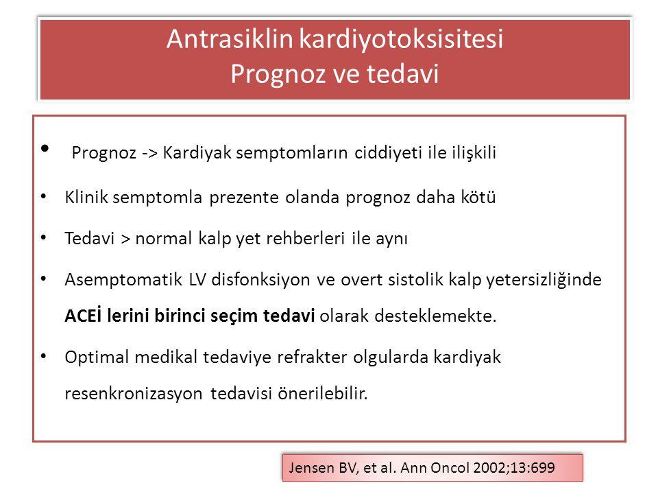 Antrasiklin kardiyotoksisitesi Prognoz ve tedavi
