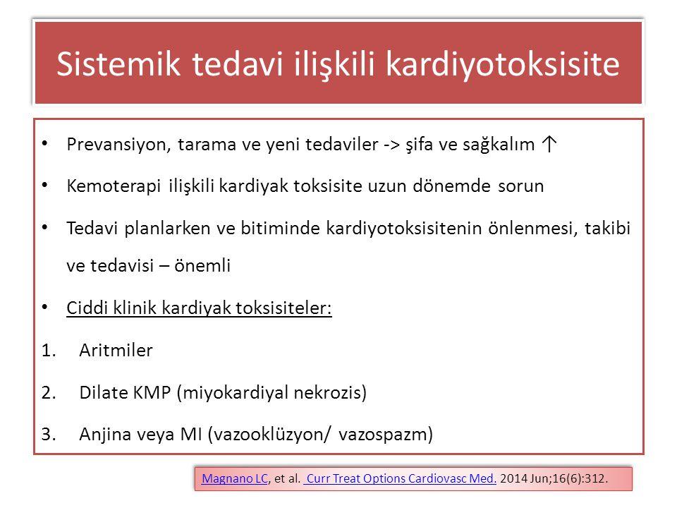 Sistemik tedavi ilişkili kardiyotoksisite
