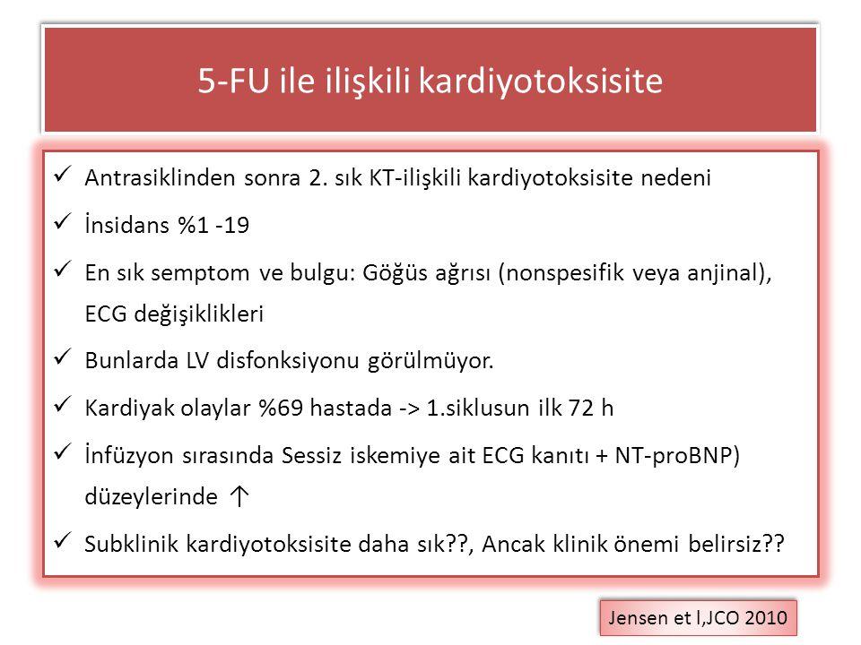 5-FU ile ilişkili kardiyotoksisite