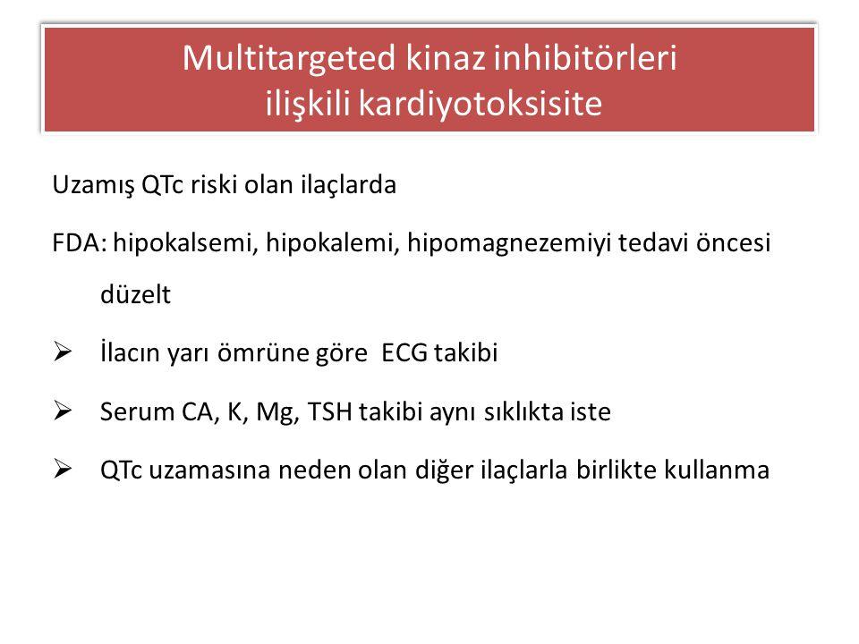 Multitargeted kinaz inhibitörleri ilişkili kardiyotoksisite