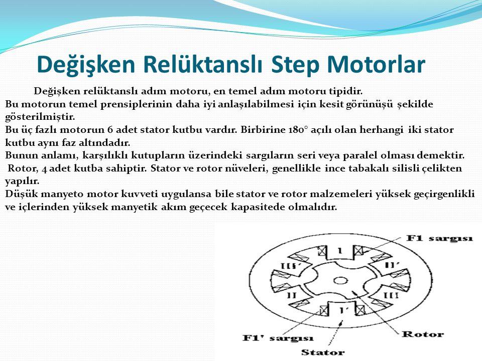 Değişken Relüktanslı Step Motorlar
