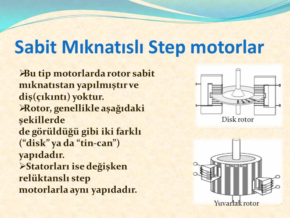 Sabit Mıknatıslı Step motorlar