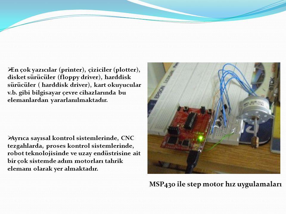 MSP430 ile step motor hız uygulamaları