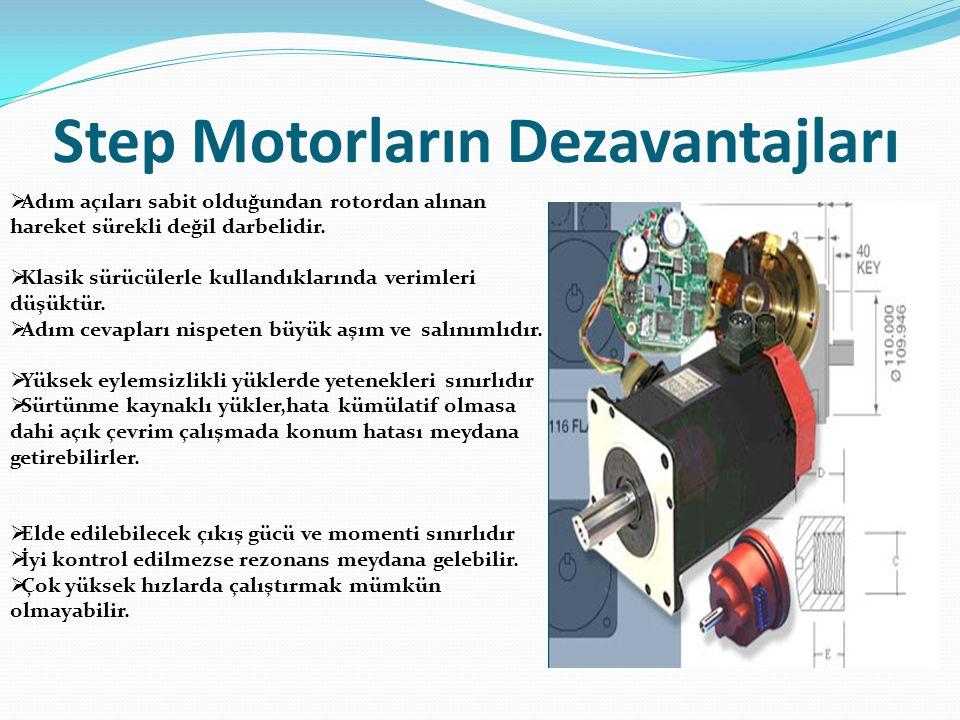 Step Motorların Dezavantajları