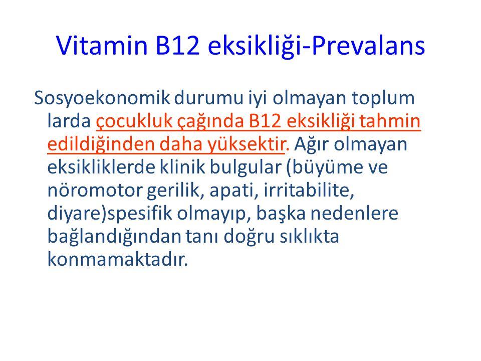 Vitamin B12 eksikliği-Prevalans