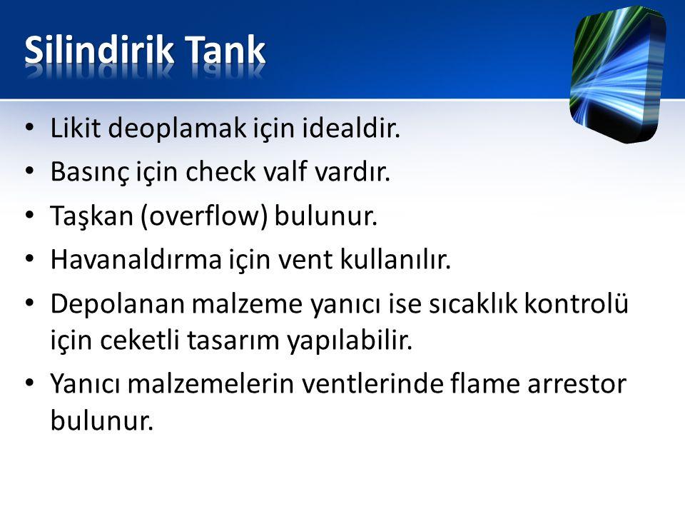Silindirik Tank Likit deoplamak için idealdir.
