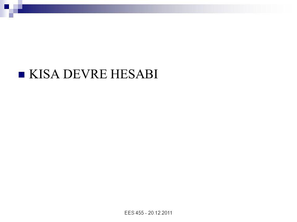 KISA DEVRE HESABI EES 455 - 20.12.2011