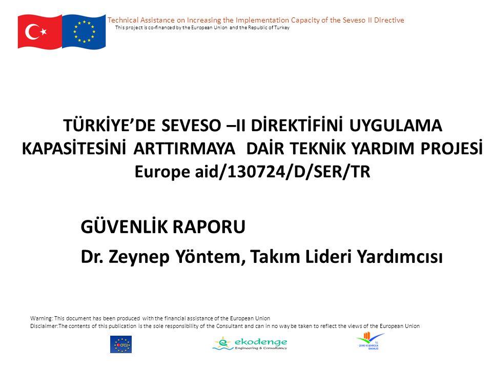 GÜVENLİK RAPORU Dr. Zeynep Yöntem, Takım Lideri Yardımcısı