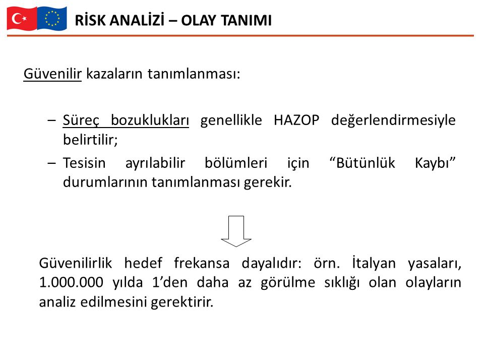 RİSK ANALİZİ – OLAY TANIMI
