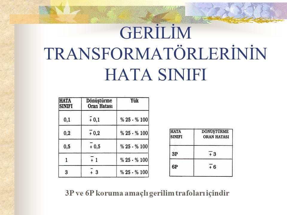 GERİLİM TRANSFORMATÖRLERİNİN HATA SINIFI