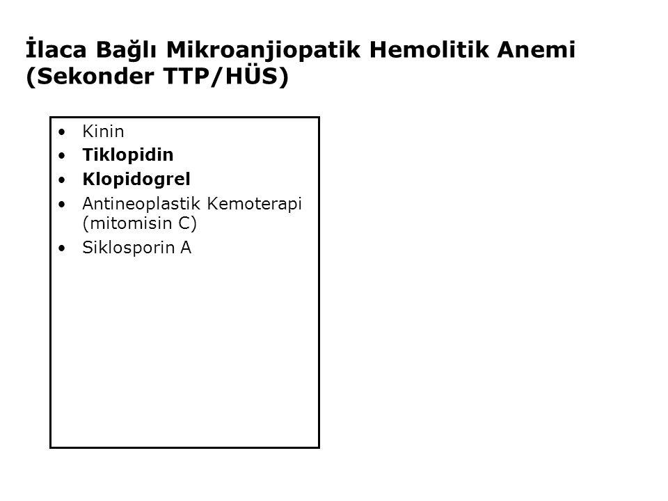 İlaca Bağlı Mikroanjiopatik Hemolitik Anemi (Sekonder TTP/HÜS)