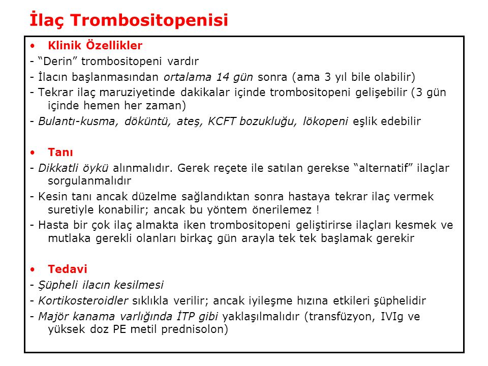 İlaç Trombositopenisi
