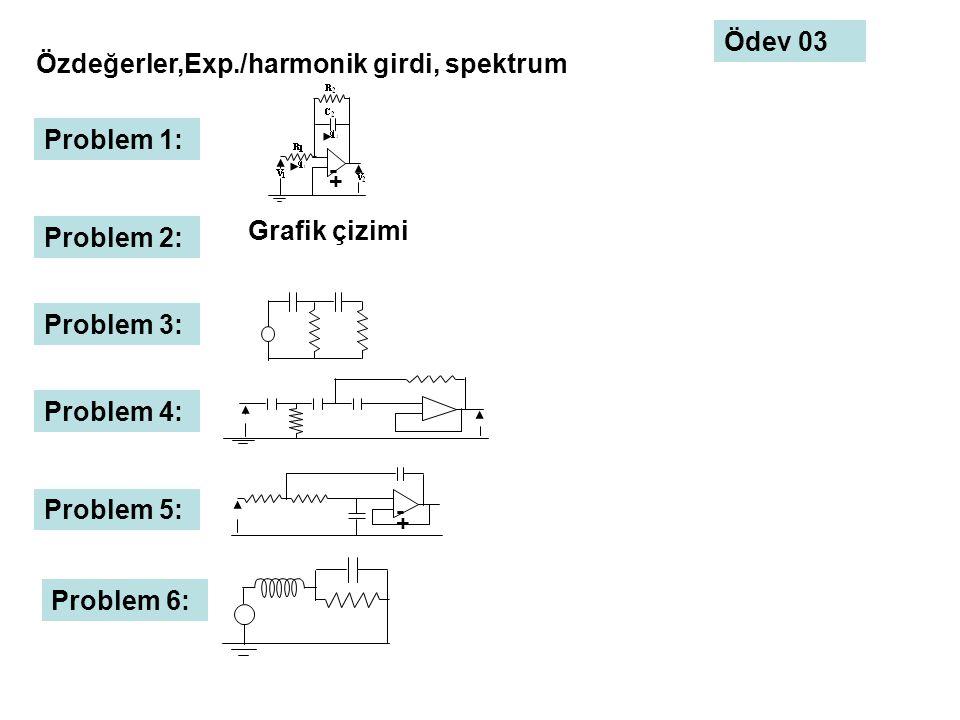 Özdeğerler,Exp./harmonik girdi, spektrum