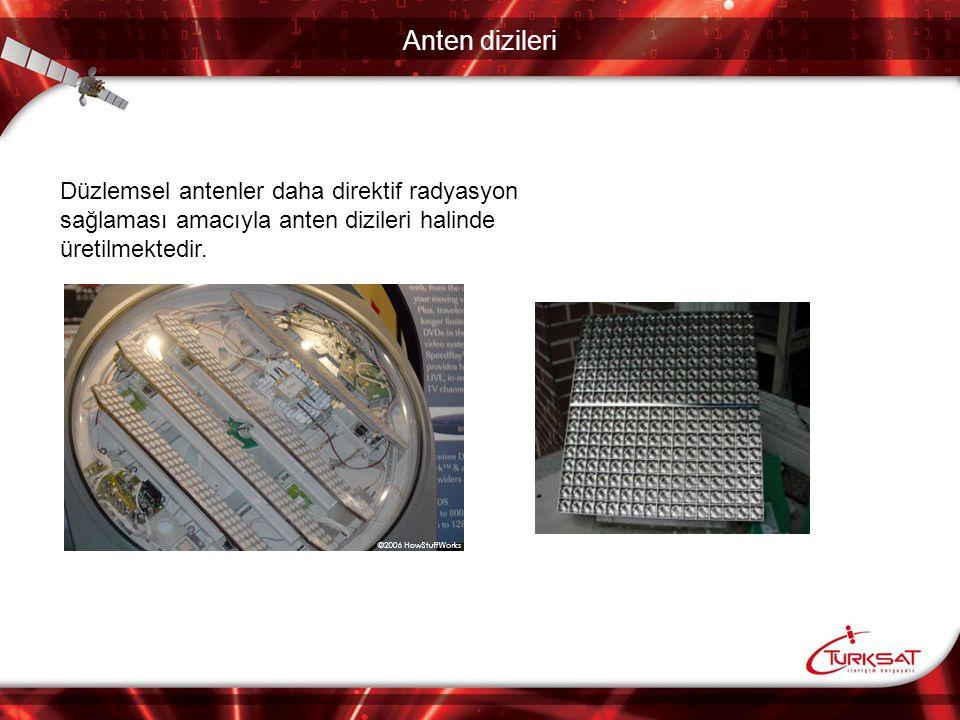 Anten dizileri Düzlemsel antenler daha direktif radyasyon sağlaması amacıyla anten dizileri halinde üretilmektedir.