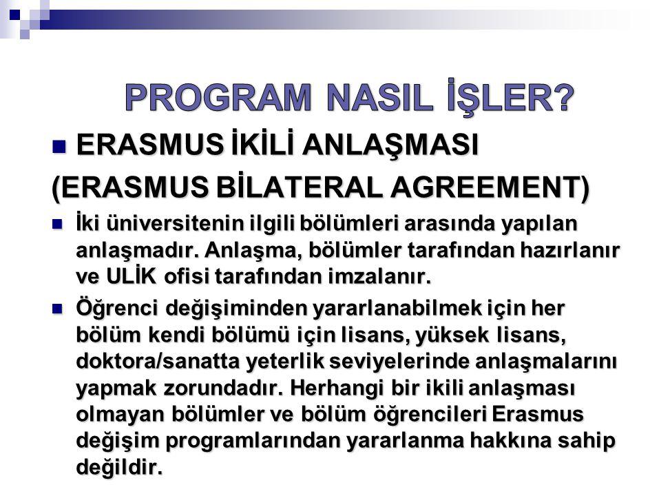 PROGRAM NASIL İŞLER ERASMUS İKİLİ ANLAŞMASI
