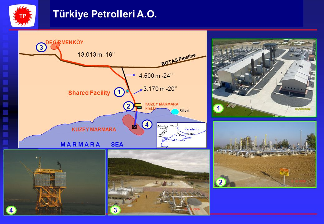 DEĞİRMENKÖY Karadeniz. BOTAŞ Pipeline. Bulgaria. Greece. Aegean. Sea. Shared Facility. Silivri.