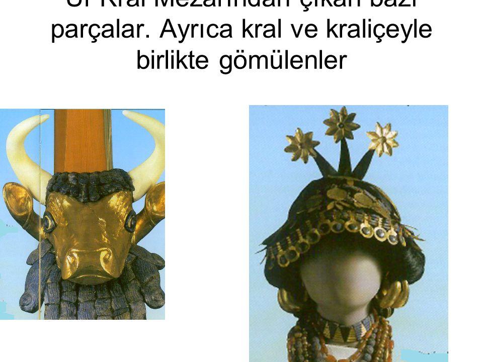 Ur Kral Mezarından çıkan bazı parçalar