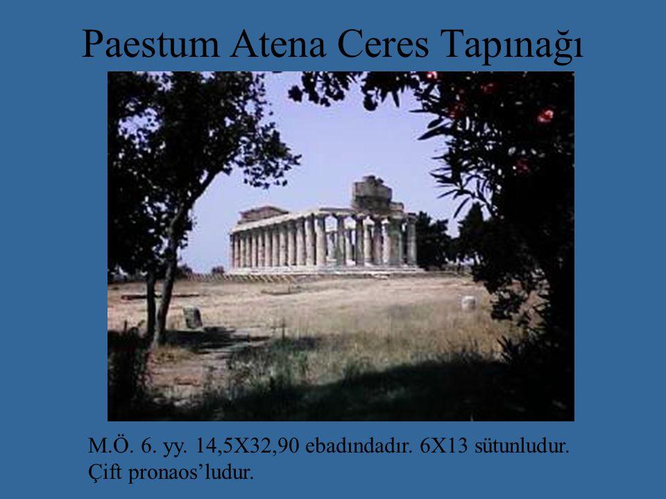 Paestum Atena Ceres Tapınağı