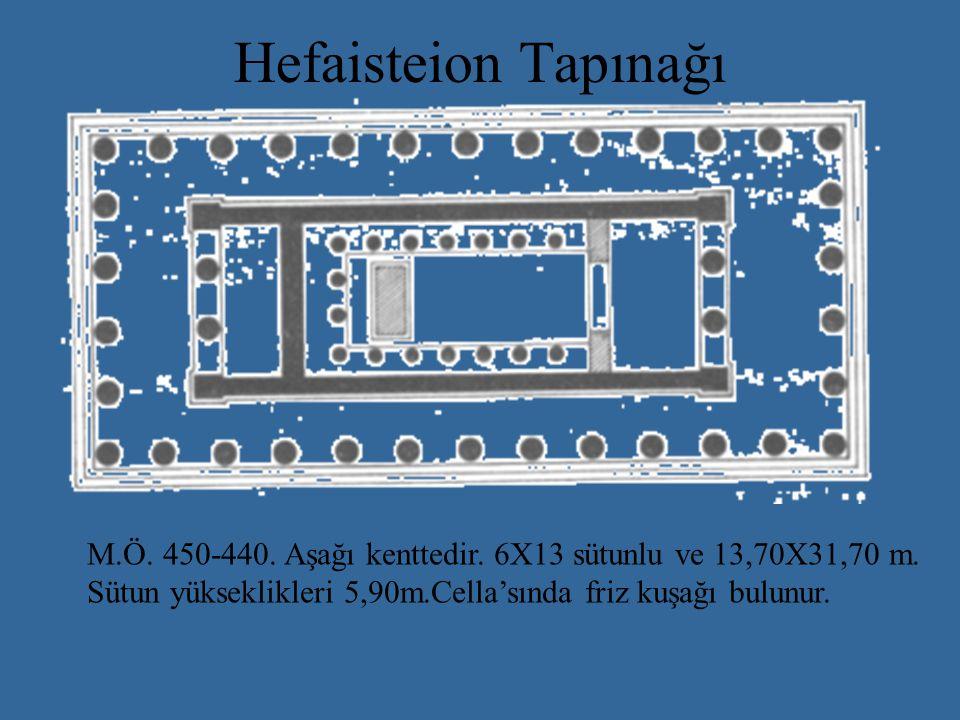 Hefaisteion Tapınağı M.Ö. 450-440. Aşağı kenttedir.