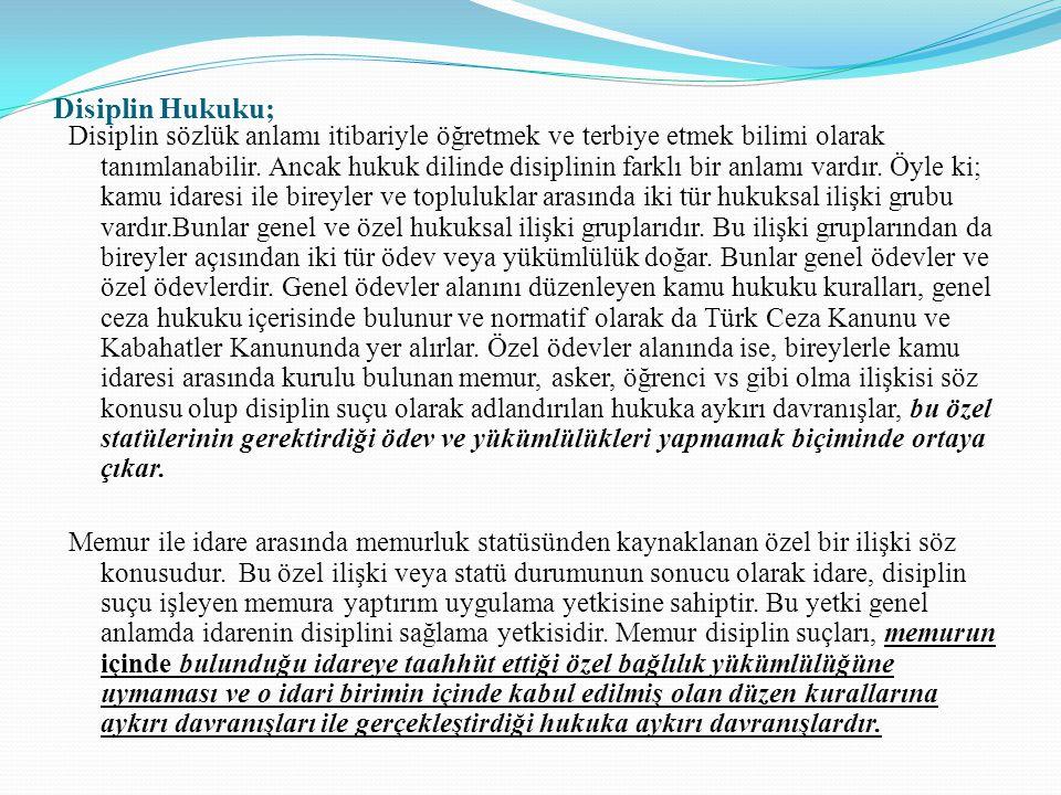 Disiplin Hukuku;