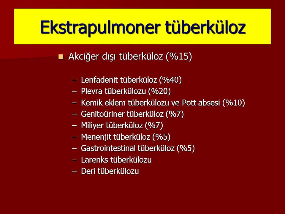 Ekstrapulmoner tüberküloz