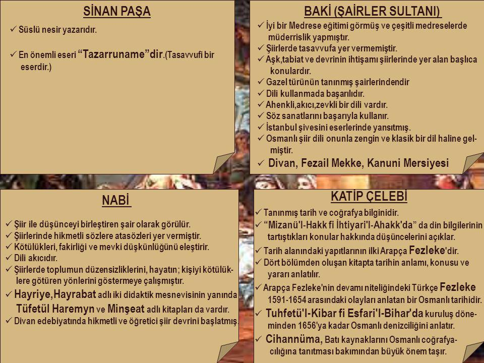 BAKİ (ŞAİRLER SULTANI)
