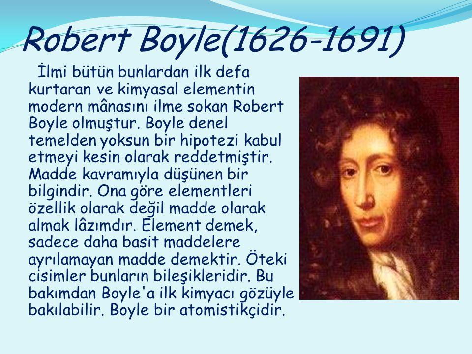 Robert Boyle(1626-1691)