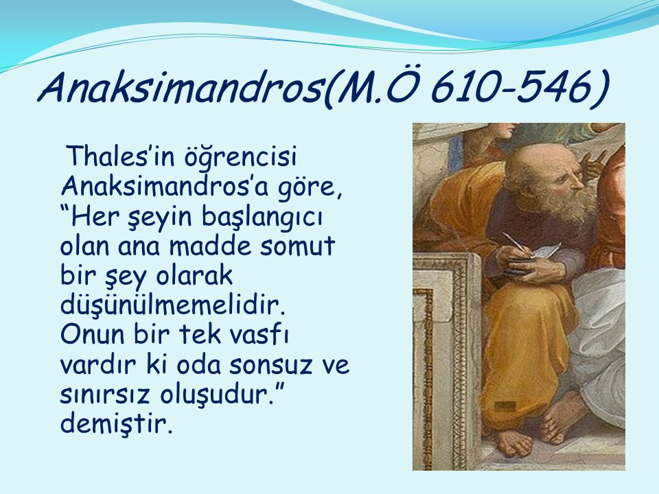 Anaksimandros(M.Ö 610-546)