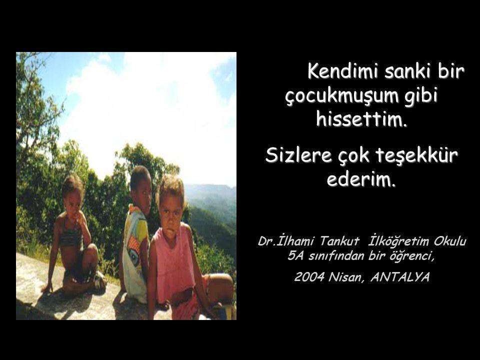 Dr.İlhami Tankut İlköğretim Okulu 5A sınıfından bir öğrenci,