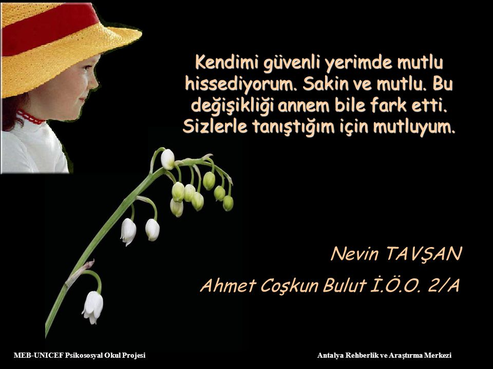 Ahmet Coşkun Bulut İ.Ö.O. 2/A