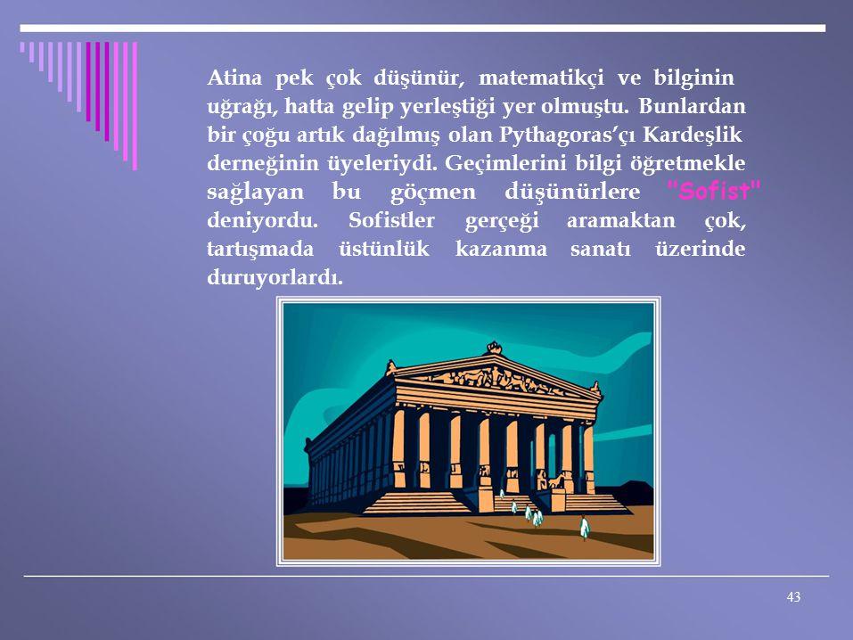 Atina pek çok düşünür, matematikçi ve bilginin