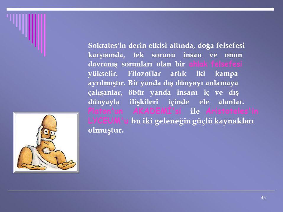 Sokrates in derin etkisi altında, doğa felsefesi