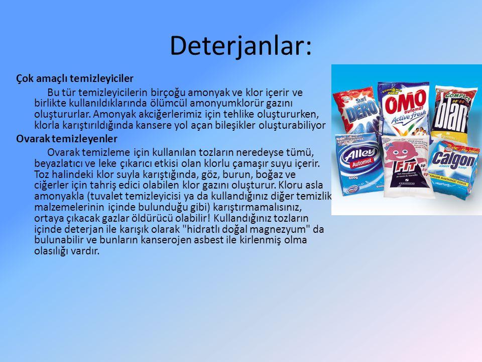 Deterjanlar: Çok amaçlı temizleyiciler