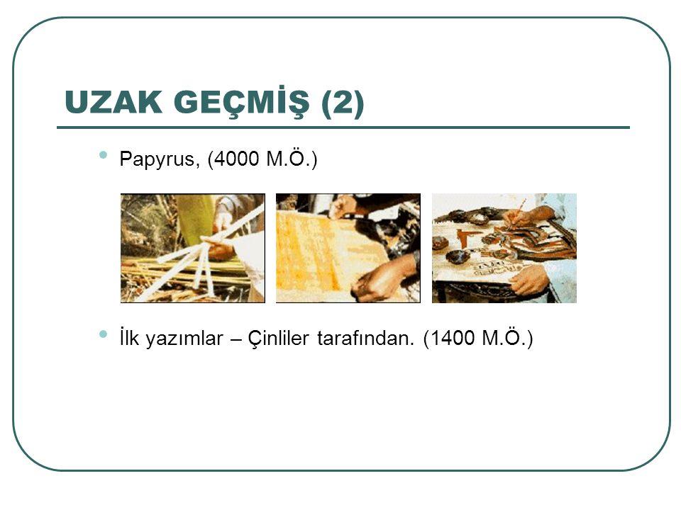 UZAK GEÇMİŞ (2) Papyrus, (4000 M.Ö.)